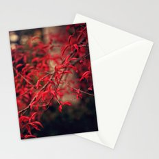 Woodland Red Stationery Cards