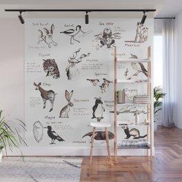 Calendar Animals Wall Mural