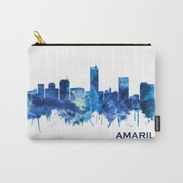 Amarillo Texas Skyline Blue Carry-All Pouch