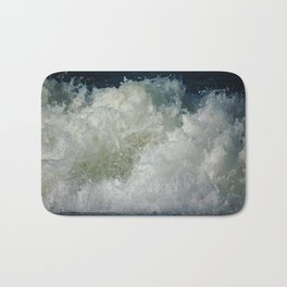 big waves, big splash Bath Mat