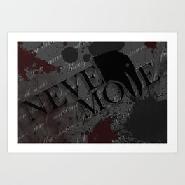"Quoth the Raven, ""Nevermore."" Art Print"
