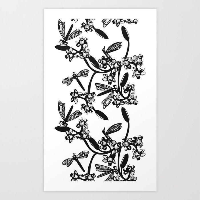 DraGridFlies Art Print