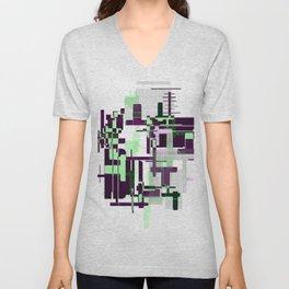Mint Green City Unisex V-Neck