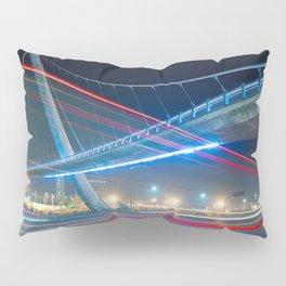 Bridge blue red night Pillow Sham