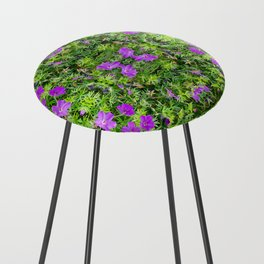 "TRUE SPECIE HARDY GERANIUM ""TINY MONSTER"" Counter Stool"