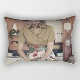 He called me crazy Rectangular Pillow