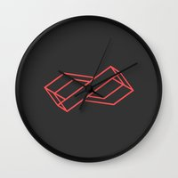 infinite Wall Clocks featuring Infinite by Leseed