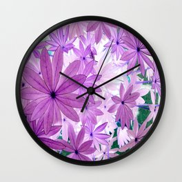 Lupin Leaves 1 Wall Clock