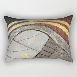 Curvy double yellow lines Rectangular Pillow