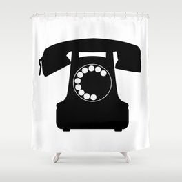 Traditional Telephone Icon Shower Curtain