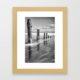 Sea Sentinels - Mono Framed Art Print