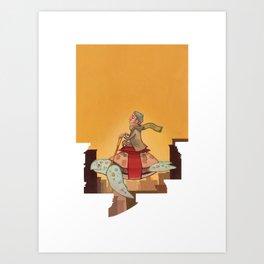 Flying Turtle Art Print