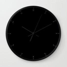 Little hours Black Wall Clock
