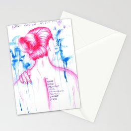 I DON'T KNOW WHO I AM - Equilibrium Stationery Cards