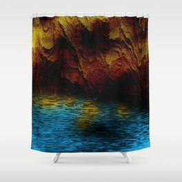 Background Cave Art Shower Curtain