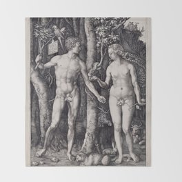 Adam and Eve | Lilith | Biblical Throw Blanket