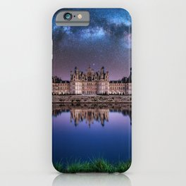 The castle of Chambord at night, Castle of the Loire, France iPhone Case
