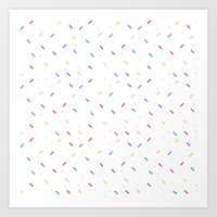 sprinkles Art Prints featuring sprinkles by a. nishimura