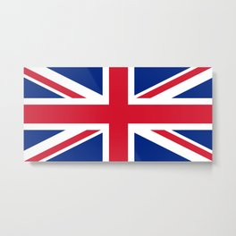 UK FLAG - The Union Jack Authentic color and 1:2 scale  Metal Print