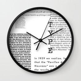 Type - Le Corbusier, Pavilion L'Esprit Nouveau Wall Clock