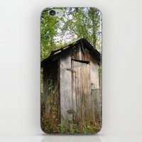 outdoor iPhone & iPod Skins featuring Outdoor toilet by jim snyders photography