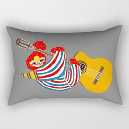 Heroes Sloth Vintage Guitar Rectangular Pillow
