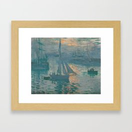 Claude Monet - Marine Sunrise, 1873 Framed Art Print