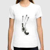 gun T-shirts featuring gun  by mark ashkenazi