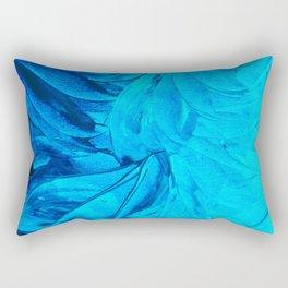 PETAL PINWHEELS, Revisited -  Indigo Royal Blue Turquoise Floral Pattern Swirls Ocean Water Flowers Rectangular Pillow