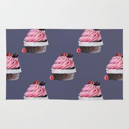 Chocolate Raspberry Cupcake Rug