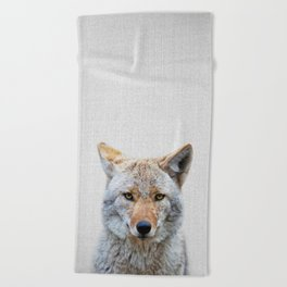 Coyote - Colorful Beach Towel