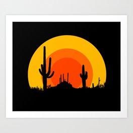 mucho calor Art Print