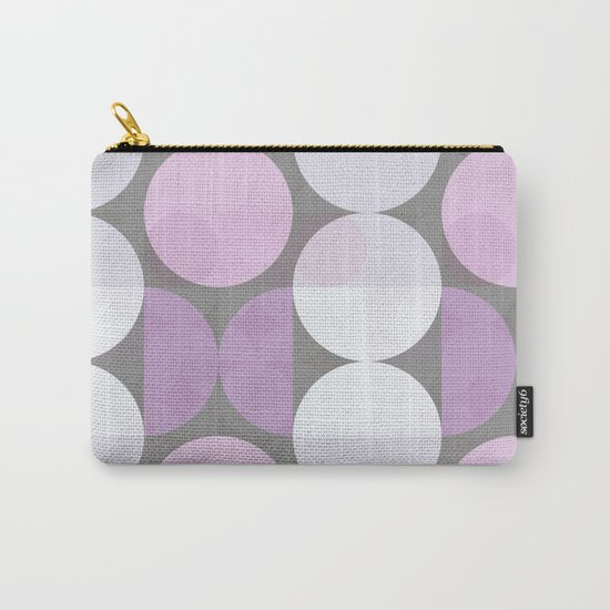 pink grey circular pattern Carry-All Pouch