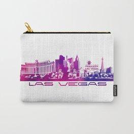 Las Vegas skyline purple Carry-All Pouch