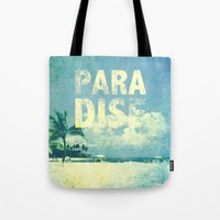 paradise Tote Bags featuring Paradise by M Studio