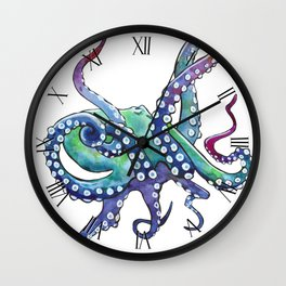 Rainbow Octopus Wall Clock