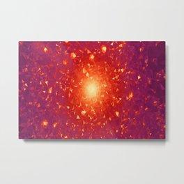 Missing Galaxies Low Poly Geometric Triangles Metal Print