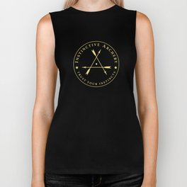 Instinctive Archery - Official Gold Patch Tshirt - July 2017 Biker Tank