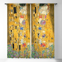 The Kiss, Fine Art Print, Gustav Klimt, Wedding Love Romance Gift Blackout Curtain