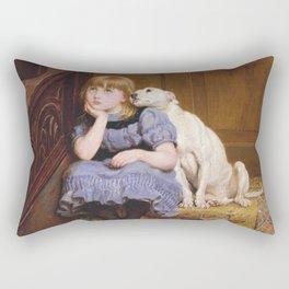 Briton Riviere - Sympathy Rectangular Pillow