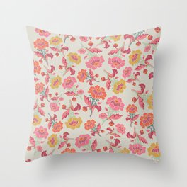 Multi sorbet floral  Throw Pillow