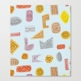 Trible shapes Pattern Canvas Print