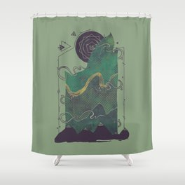 Northern Nightsky Shower Curtain