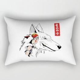 Princess Mononoke Wolf Rectangular Pillow
