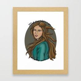 If we cease to believe in Love TVD fanart Framed Art Print