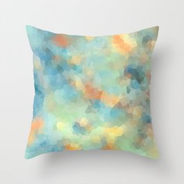 """Colored crystals . """"Sunbeams"""" . Throw Pillow"""