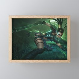 Headhunter Nidalee League of Legends Framed Mini Art Print