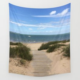 Breezy Seaside Path Wall Tapestry