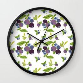 Sweet Blueberry Wall Clock