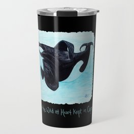 A Prayer for the Orca ~ Watercolor Painting by Amber Marine, (Copyright 2013) Travel Mug